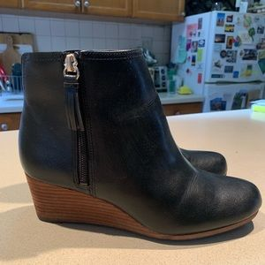 Black wedge ankle boots by Dr Scholl's